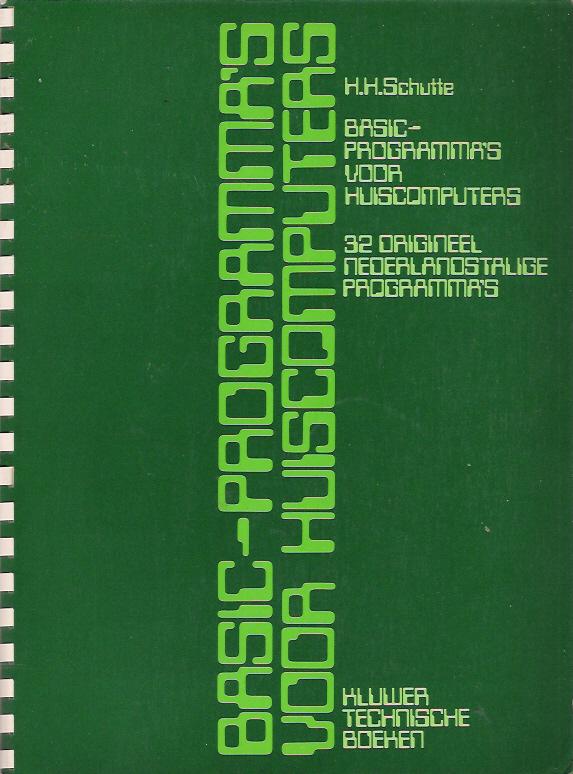 BASIC-Programma's voor Huiscomputers screen