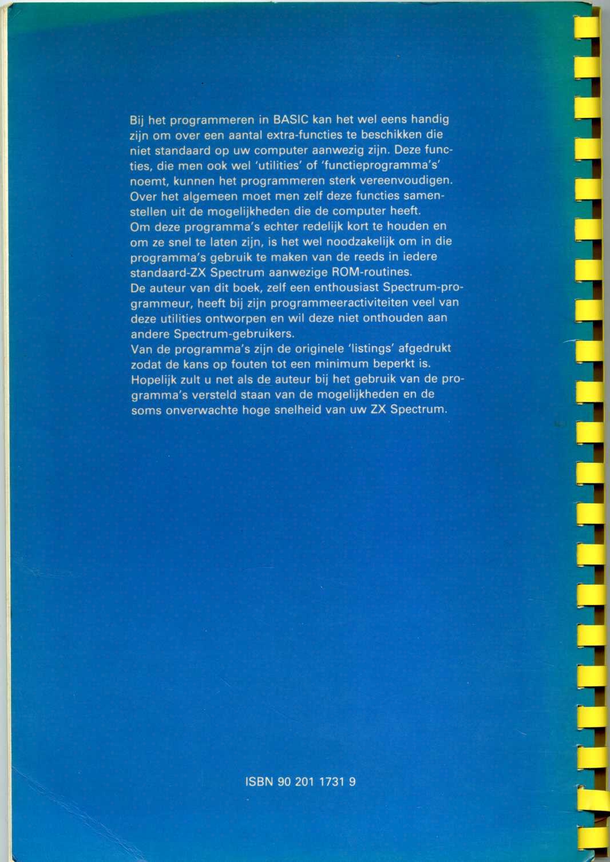 BASIC-Programma's voor ZX Spectrum Programmeurs screen