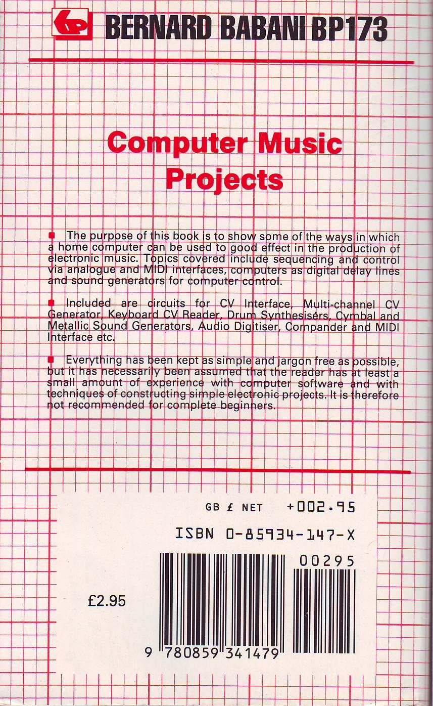 Computer Music Projects image, screenshot or loading screen
