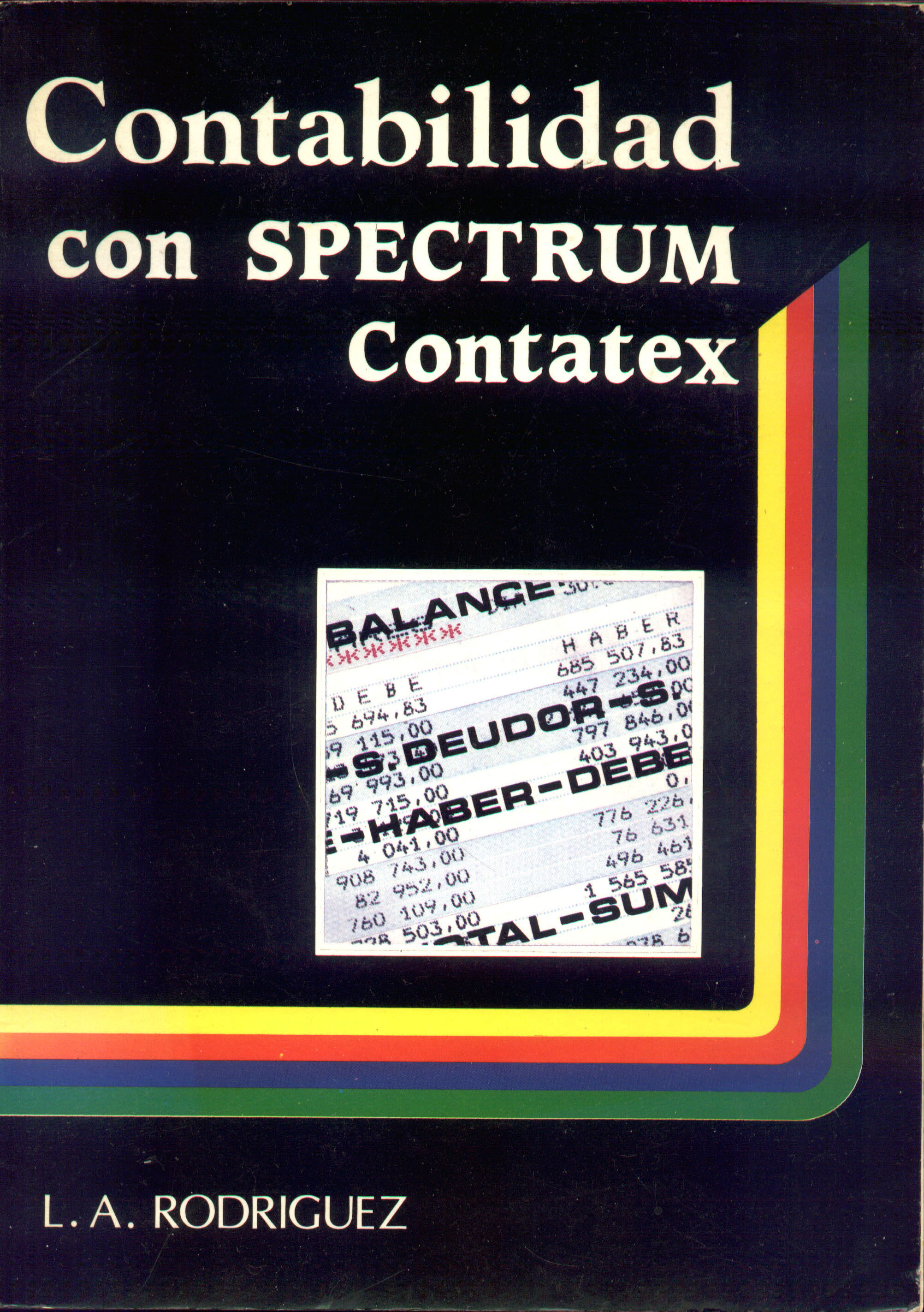 Contabilidad con Spectrum: Contatex screen