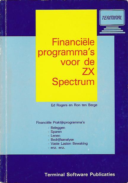 Financiele Programma's voor de ZX Spectrum screen