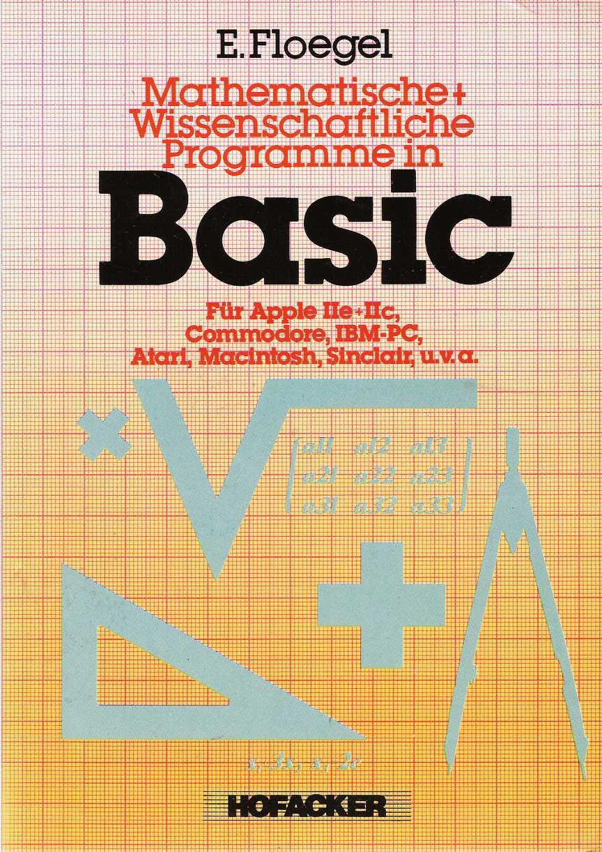 Mathematische + Wissenschaftliche Programme in Basic screen