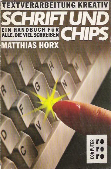 Schrift und Chips screen