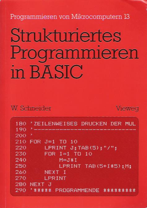 Strukturiertes Programmieren in BASIC screen