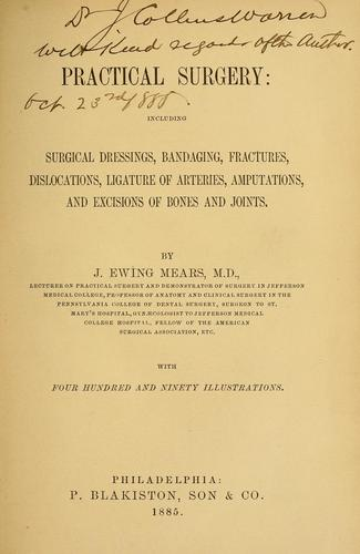Practical surgery by J. Ewing Mears