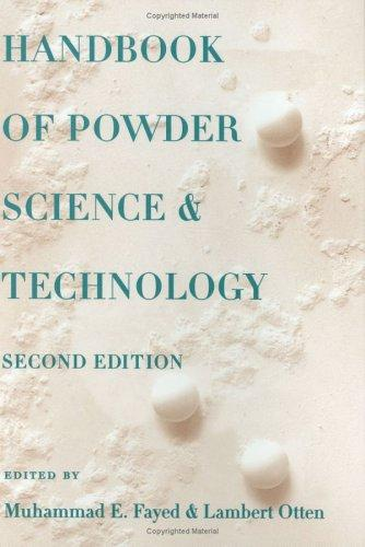 Handbook of powder science & technology by