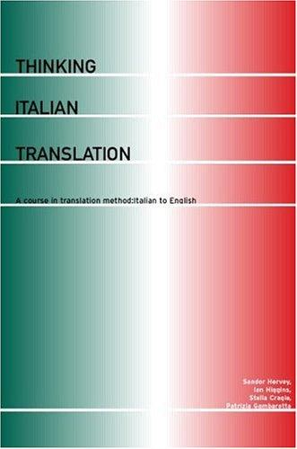 Thinking Italian translation by Sándor G. J. Hervey