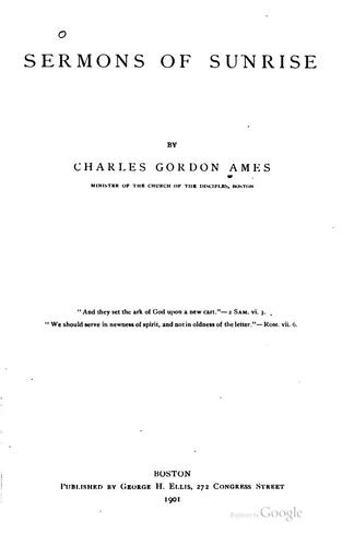Sermons of Sunrise by Charles Gordon Ames