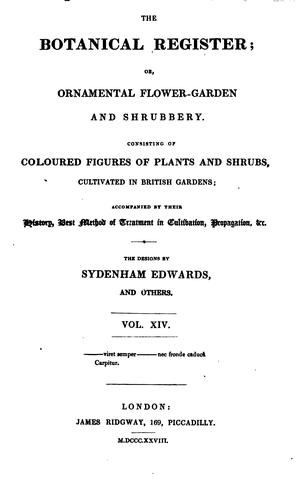 The Botanical Register Vol. XIV by Sydenham Edwards