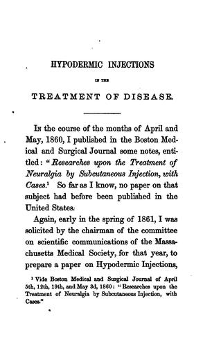 Hypodermic injections in the treatment of neuralgia, rheumatism, gout and other diseases by Antoine Ruppaner
