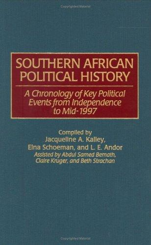Southern African political history by Jacqueline A. Kalley