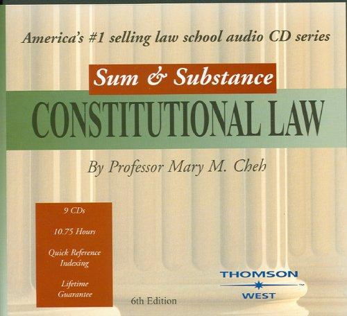Sum & Substance Audio on Constitutional Law by Mary M. Cheh