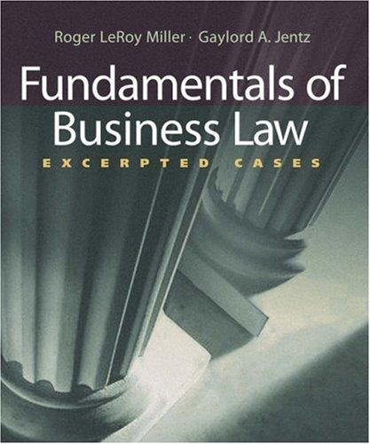 Fundamentals of Business Law
