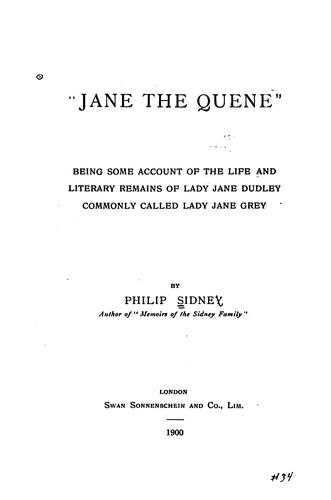 """Jane the quene,"" by Philip Sidney"