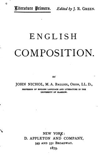 English composition.