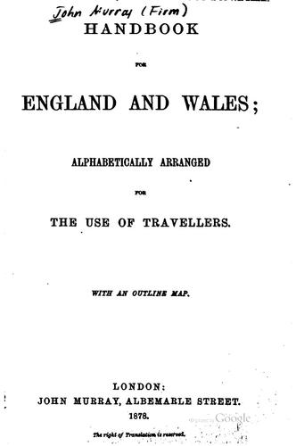 Handbook for England and Wales by John Murray (Firm)