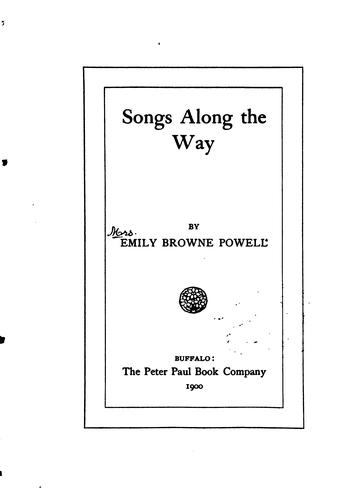 Songs Along The Way by Emily Browne Powell