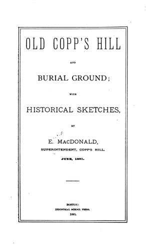 Old Copp's Hill and burial ground by E. MacDonald