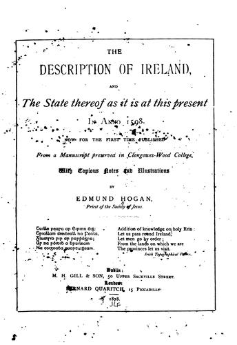 The description of Ireland by Hogan, Edmund