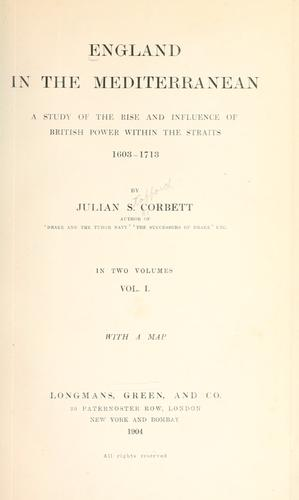England in the Mediterranean by Sir Julian Stafford Corbett