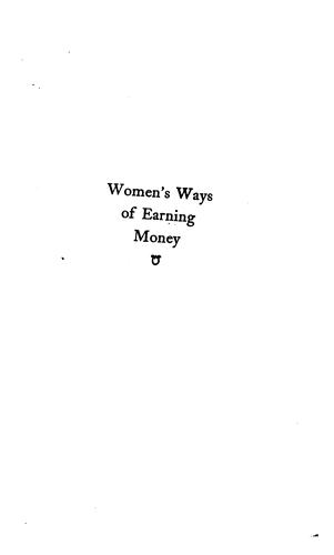 Women's ways of earning money by Alden, Cynthia May Westover