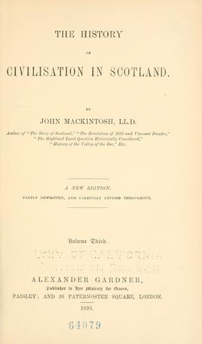The history of civilisation in Scotland.