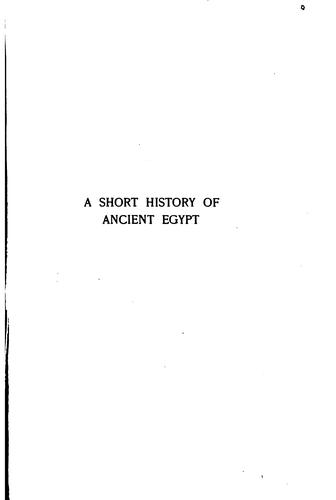 A short history of ancient Egypt by Alexandre Moret