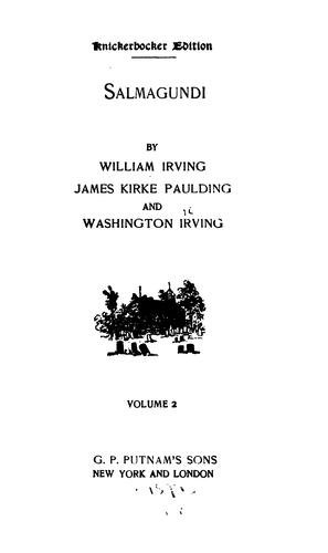 Salmagundi by Washington Irving