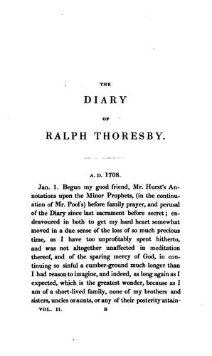 The diary of Ralph Thoresby... (1677-1724) by Thoresby, Ralph