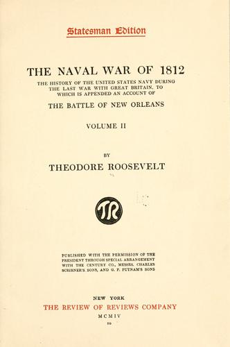 The naval war of 1812