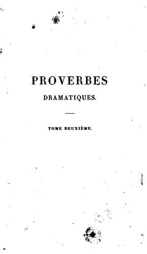 Proverbes dramatiques by Michel Théodore Leclercq