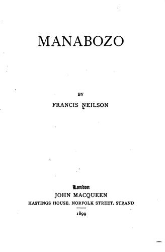 Manabozo by Francis Neilson