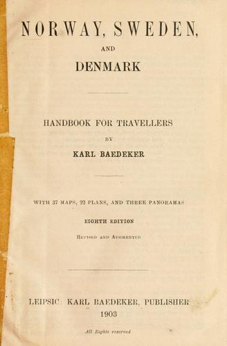 Norway, Sweden, and Denmark by Karl Baedeker (Firm)
