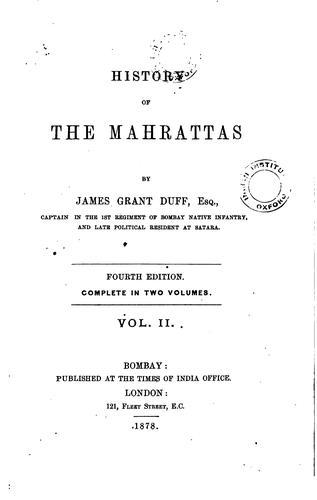 History of the Mahrattas