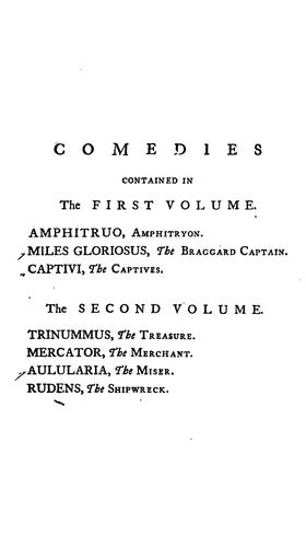 Comedies of Plautus by Titus Maccius Plautus