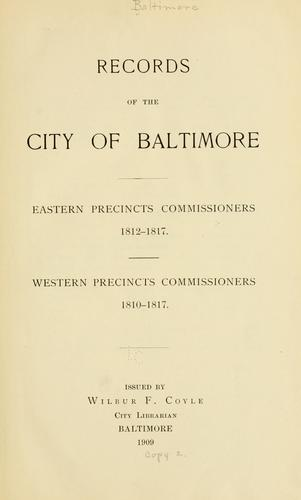 Records of the city of Baltimore by Baltimore