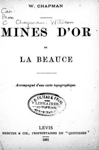 Mines d'or de la Beauce by W. Chapman