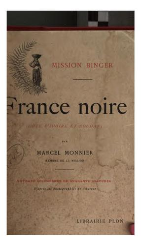 Mission Binger by Marcel Monnier