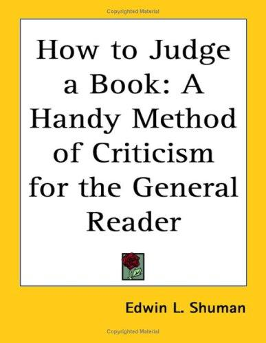 How to Judge a Book