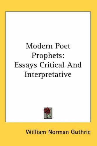 Modern Poet Prophets