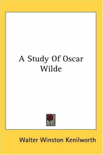 A Study of Oscar Wilde