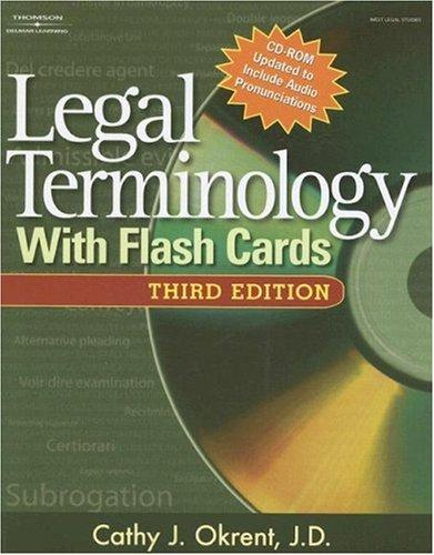 Legal Terminology with Flashcards (West Legal Studies) by Cathy Okrent