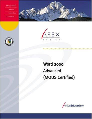 Word 2000 Advanced by ActiveEducation