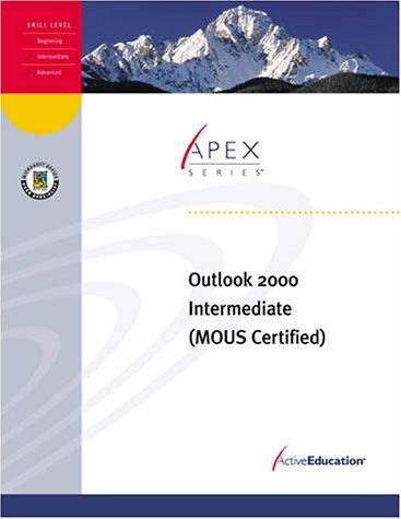 Outlook 2000 Intermediate by ActiveEducation