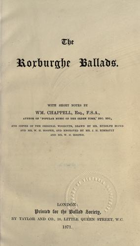 The Roxburghe ballads by