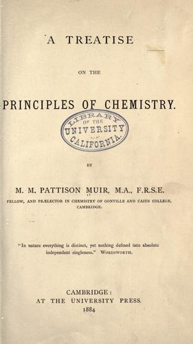 A treatise on the principles of chemistry.