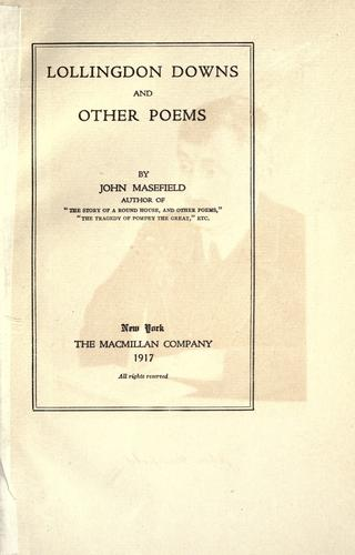 Lollingdon Downs and other poems