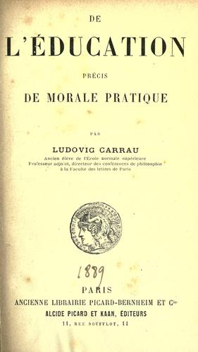 De l'education by Carrau, Ludovic