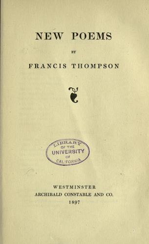 Poems by Francis Thompson
