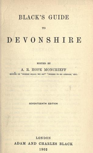 Black's guide to Devonshire by Moncrieff, A. R. Hope
